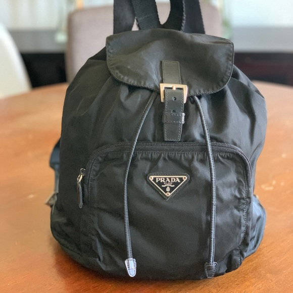 Prada Handbags - Prada nylon black backpack